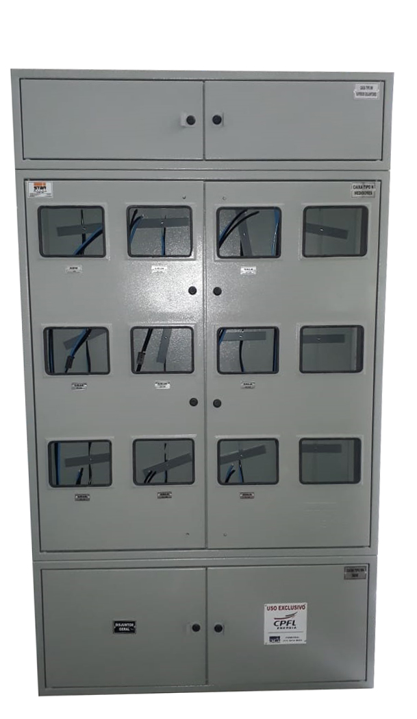 Caixa Tipo N 12 medidores Padrão CPFL - Starmetal – Eletrometalúrgica